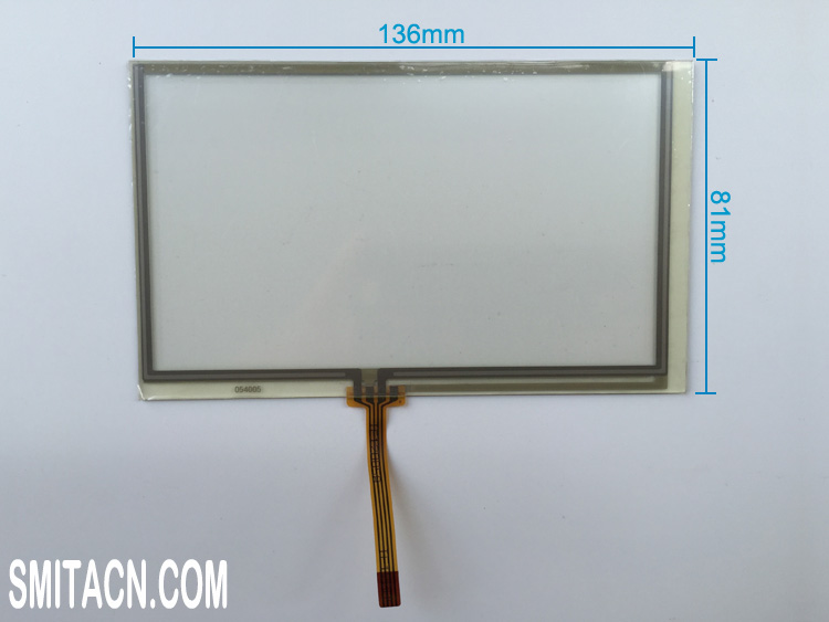 5.4 inch universal resistive touch screen digitizer glass 054005