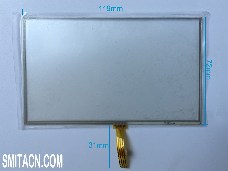 5 inch T1615A-A4 resistive touch screen digitizer glass for LMS500HF01