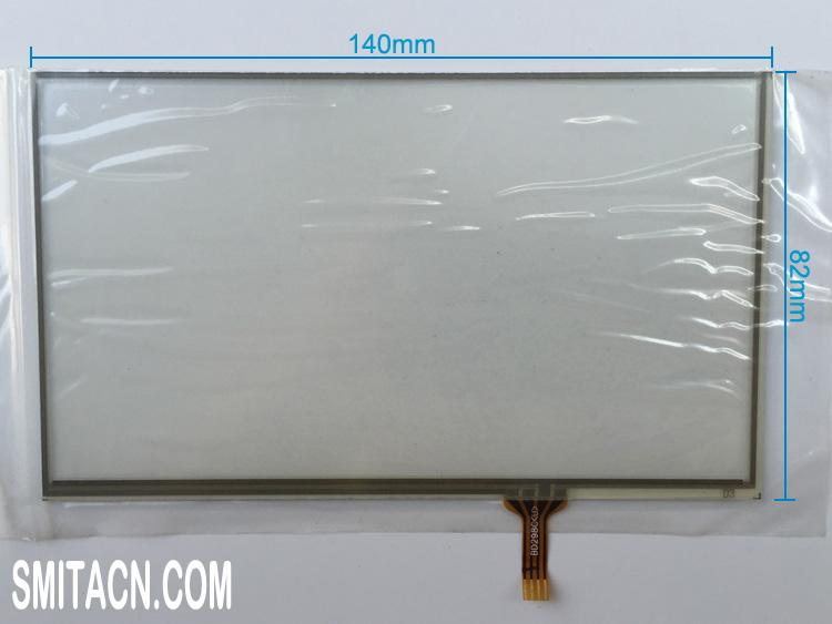 6 inch universal resistive touch screen digitizer glass BD298C
