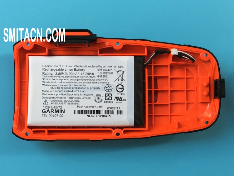 Back cover case with li-ion battery for Garmin inReach Explorer+