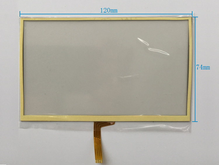 5 inch resistive touch screen digitizer glass TM1186C01-1A