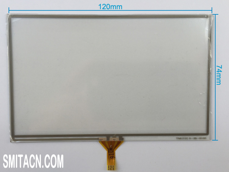 5 inch TM1212C resistive touch screen digitizer glass for Samsung LMS500HF01
