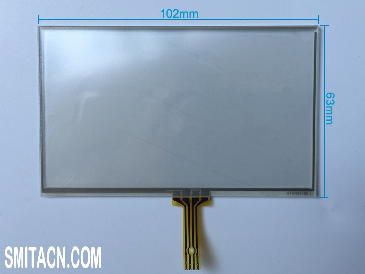 4.3 inch universal resistive touch screen digitizer glass VTW4043B6-2.0
